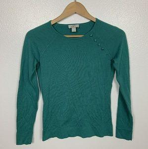 Loft Top Sweater Long Sleeve Green Sz: XS